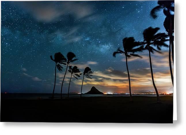 Hawaiian Stardust Greeting Card by Sean Davey
