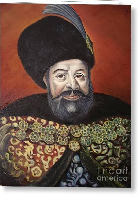 Moldavian Prince Vasile Lupu Greeting Card by Sorin Apostolescu