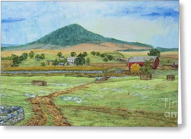 Mole Hill Panorama Greeting Card by Judith Espinoza