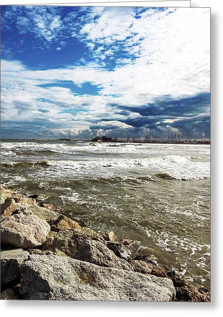 Mole Stones  In Rimini Greeting Card