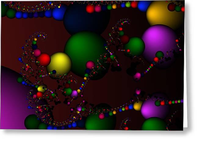 Molecule 119 Greeting Card by Rolf Bertram