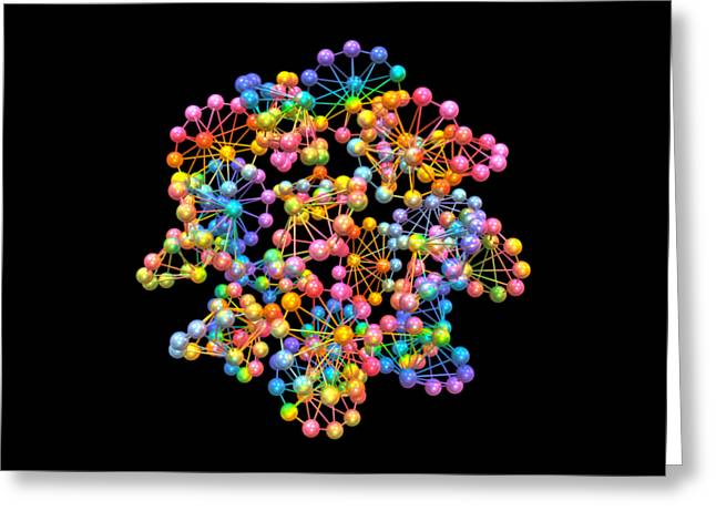 Molecules Greeting Card by C Branch