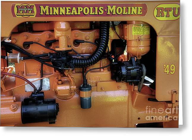 Moline Engine Greeting Card by Michael Eingle