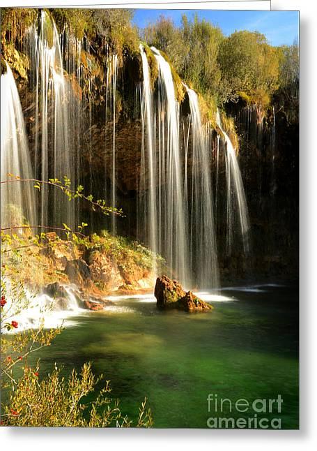 Molino De San Pedro Waterfall Greeting Card by RicardMN Photography