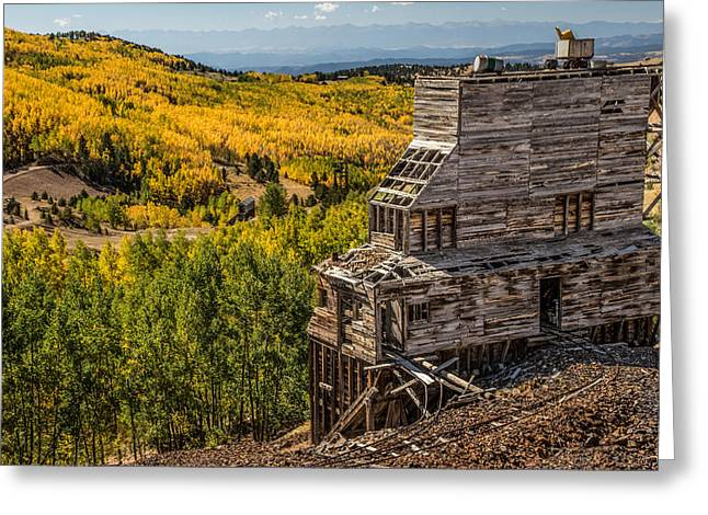 Mollie Kathleen Gold Mine In Autumn Greeting Card by Dawn Key
