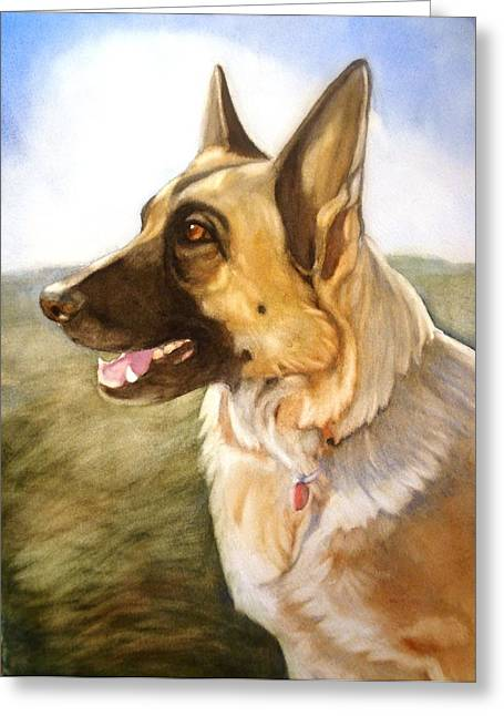 Greeting Card featuring the painting Mollie by Marilyn Jacobson