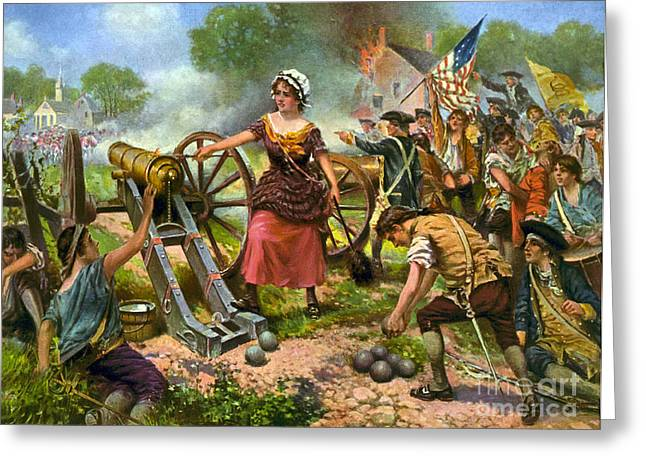 Molly Pitcher At Battle Of Monmouth Greeting Card