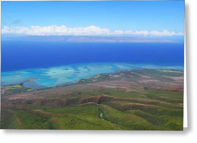 Molokai Island Reef In Hawaii Greeting Card by Stacia Blase