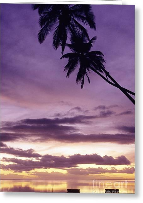 Molokai Sunset Greeting Card by Bob Abraham - Printscapes