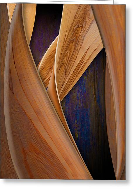 Greeting Card featuring the photograph Molten Wood by Paul Wear