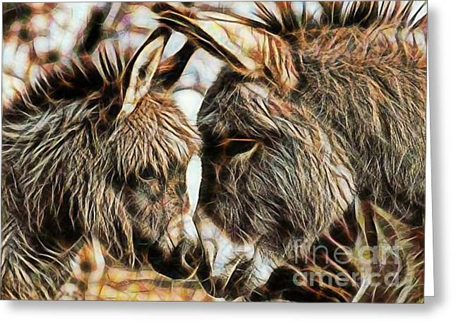 Mom And Child Greeting Card by Marvin Blaine