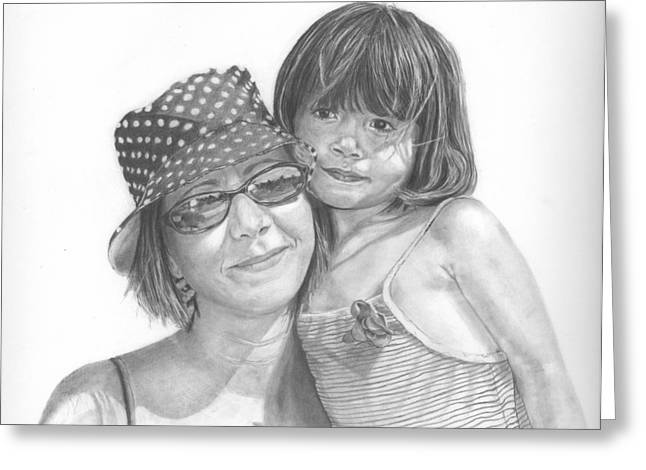 Mom And Me Greeting Card by Sue Olson
