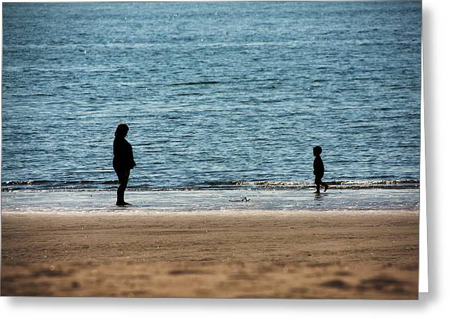 Mom And Son Moments Greeting Card by Karol Livote