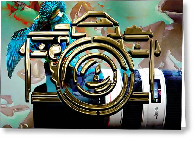 Moment In Time Camera Collection Greeting Card by Marvin Blaine