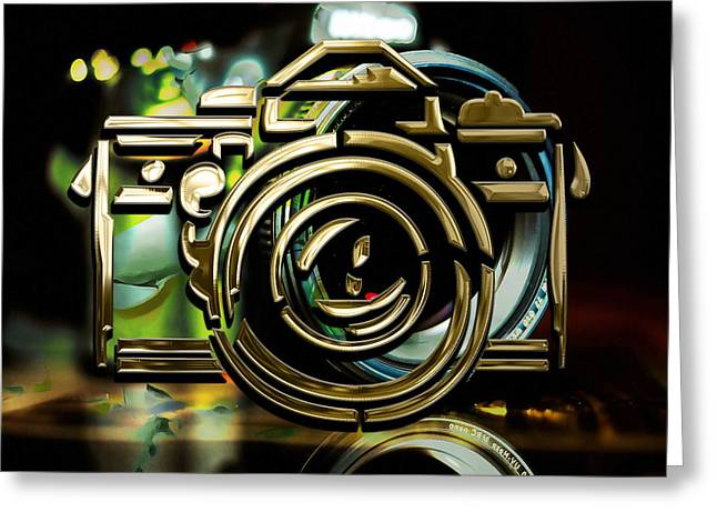 Moment Maker Camera Collection Greeting Card by Marvin Blaine