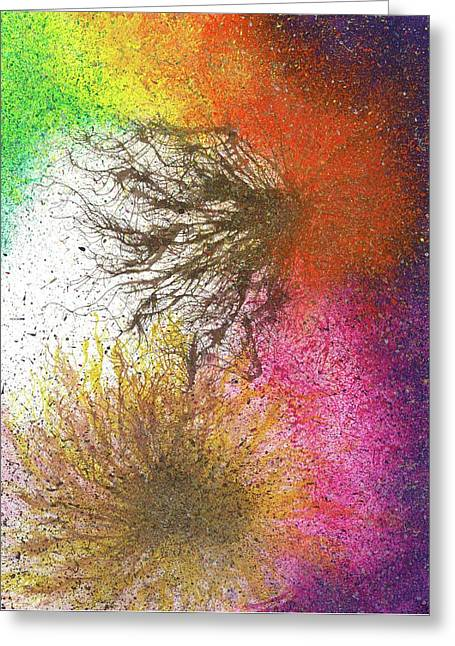 Moments Of The Divine Enlightenment #686 Greeting Card by Rainbow Artist Orlando L aka Kevin Orlando Lau