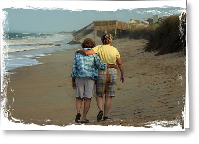 Dot And Daughter Greeting Card by Laura Ragland