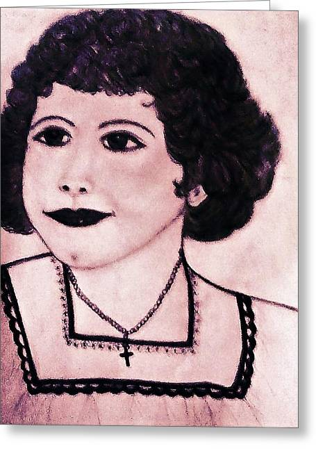 Momma's Old Photographs Greeting Card by Debra Lynch