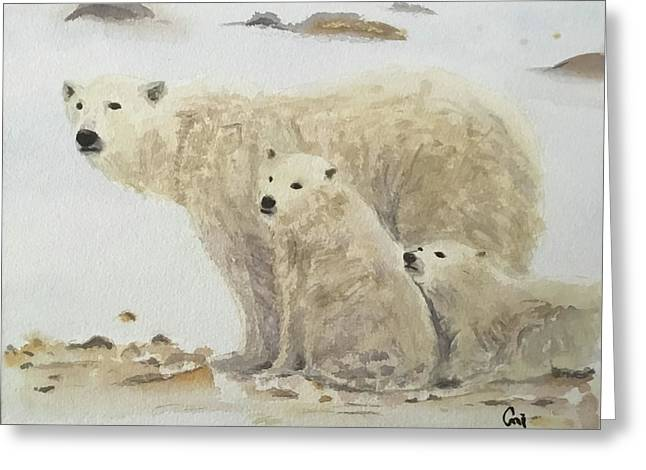 Mommy Bear Greeting Card by Annie Poitras