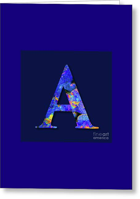 Monogrammed Letter A,  M1 Greeting Card by Johannes Murat