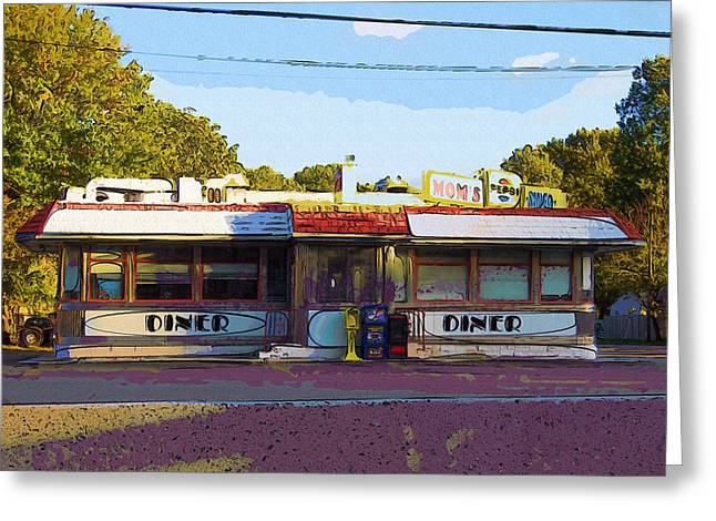 Mom's Diner IIi Greeting Card by Rick Black