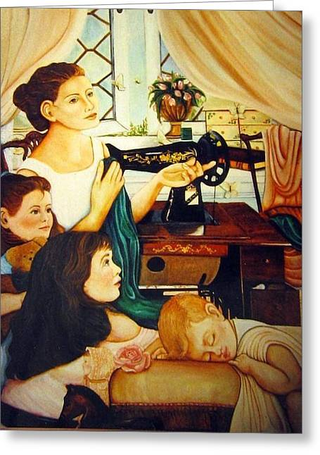 Mom's Sewing Room  Greeting Card