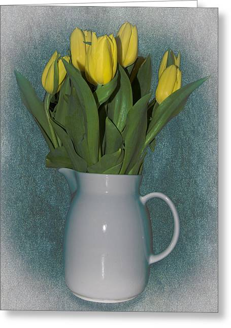 Moms Tulips Greeting Card by William Havle