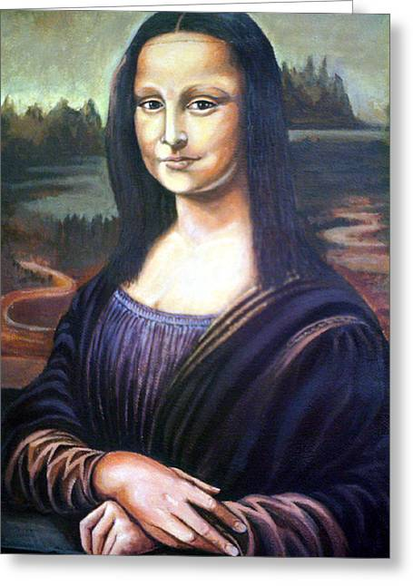 Mona Liisa Greeting Card by James Richardson