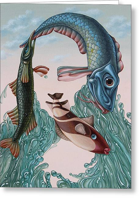 Mona Lisa. Water Greeting Card