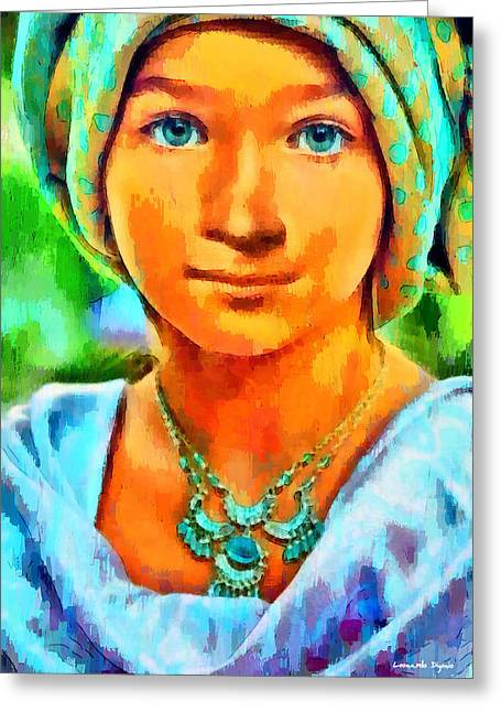 Mona Lisa Young - Pa Greeting Card