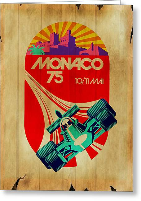 Monaco Greeting Cards - Monaco 1975 Greeting Card by Mark Rogan
