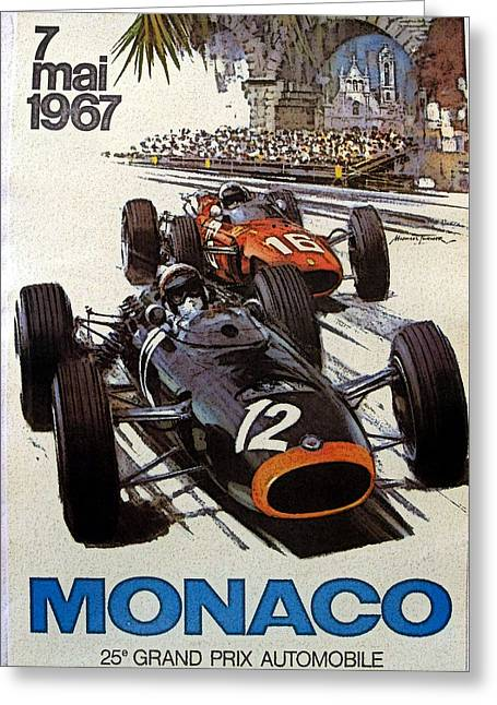 Monaco 67 Greeting Card