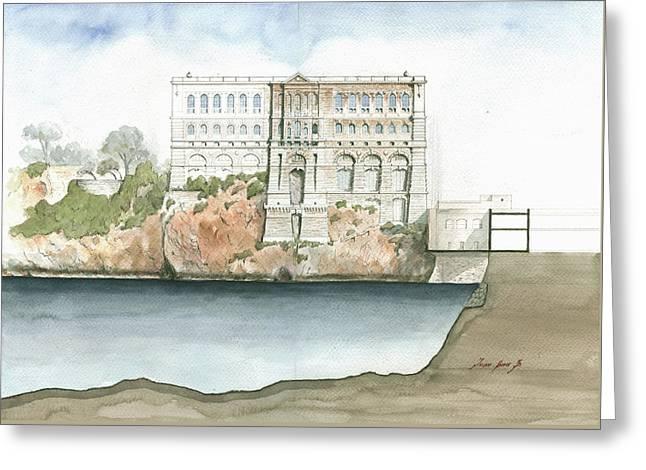 Monaco Oceanographic Museum Greeting Card