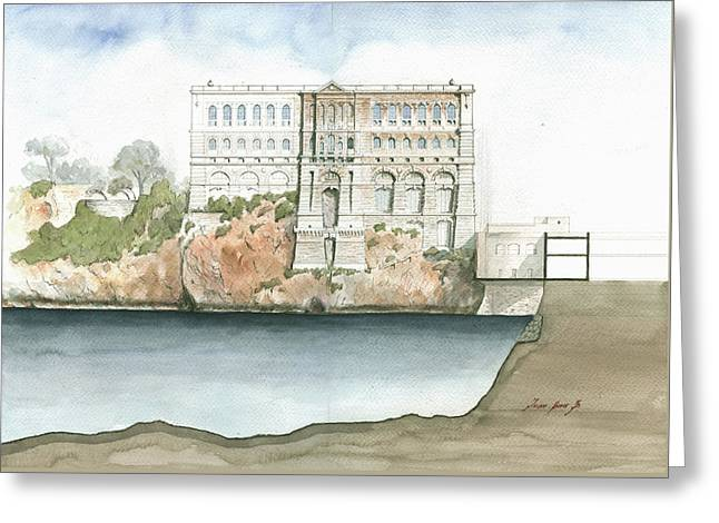 Monaco Oceanographic Museum Greeting Card