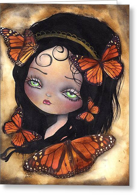Monarca Greeting Card by  Abril Andrade Griffith