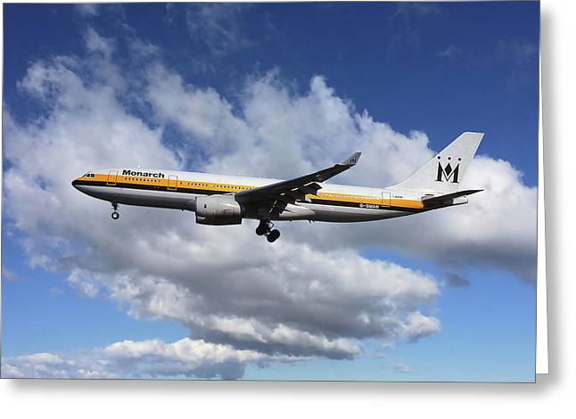 Monarch Airlines Airbus A330-243 Greeting Card