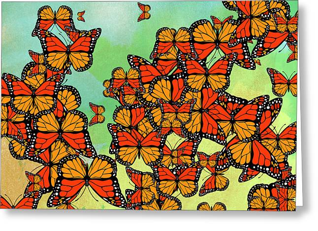 Monarch Butterflies Greeting Card by Gaspar Avila