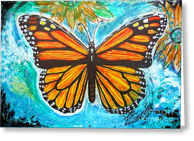 Monarch Butterfly Greeting Card by Genevieve Esson