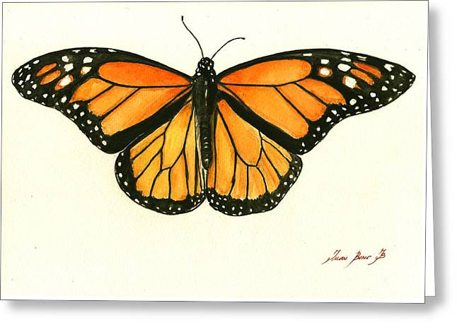 Monarch Butterfly Greeting Card by Juan Bosco