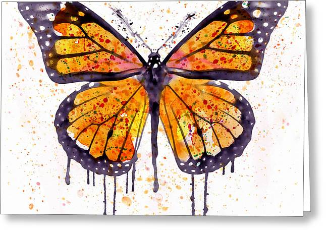 Monarch Butterfly Watercolor Greeting Card
