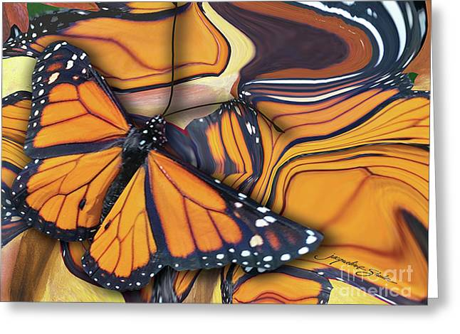 Monarch Flight Greeting Card