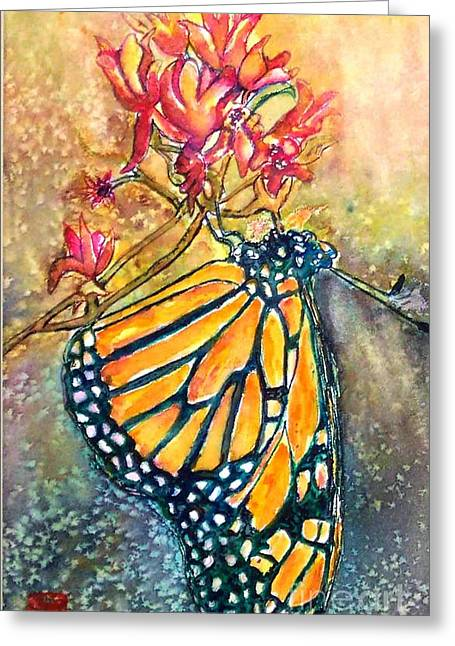 Monarch In The Morning Greeting Card by Norma Boeckler