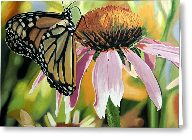 Monarch Greeting Card by Kenneth Young