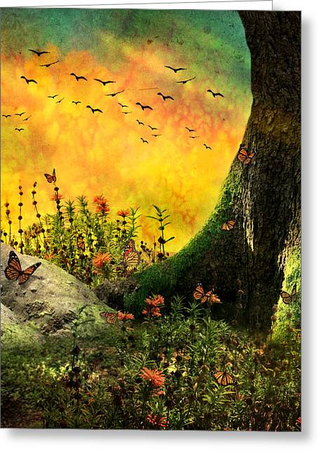 Monarch Meadow Greeting Card