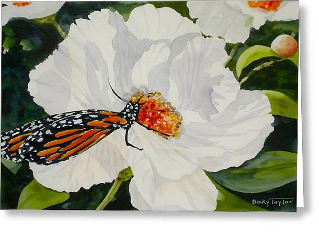 Monarch On A Poppy Greeting Card