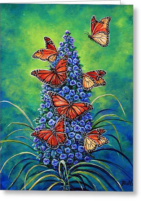 Monarch Waystation Greeting Card by Gail Butler