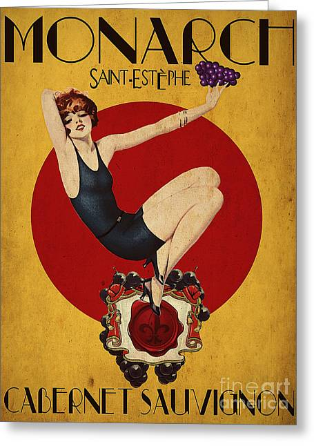 Monarch Wine A Vintage Style Ad Greeting Card by Cinema Photography