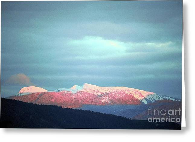 Monashee Sunset Greeting Card