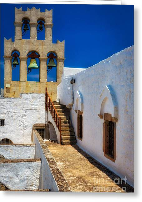 Monastery Bells Greeting Card by Inge Johnsson