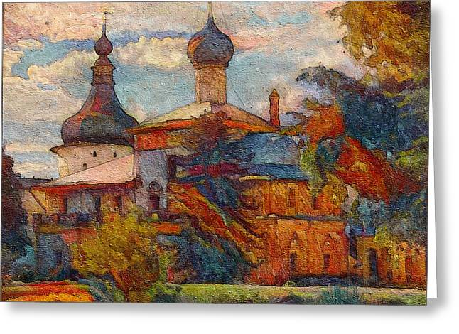 Monastery In Moscow Greeting Card